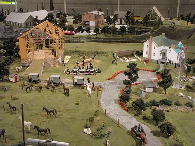 Model train farm animals