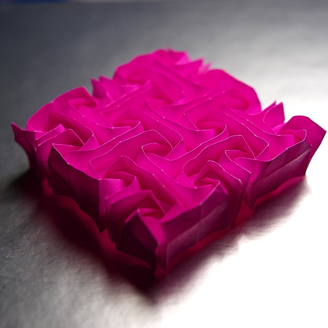 Rosa de Cristall (Tessel·lació d'origami) / Crystal Rose (Origami ...