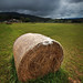 Hay Bale in the Approaching Storm