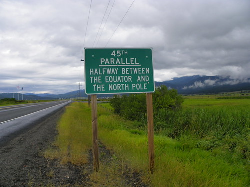Half Way between the Equator and the North Pole