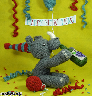 Wino Rhino the Party Animal says Happy New Year!