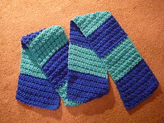Mary Maxim - Free Knit or Crochet Special Olympic Scarves