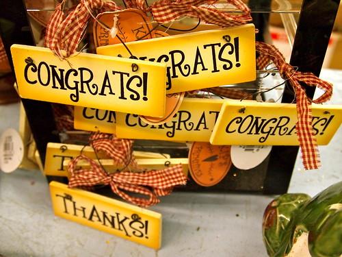 Congrats! Congrats! Congrats!