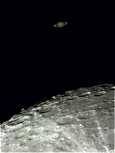 Saturn and the Moon Occultation | I couldn't believe my eyes