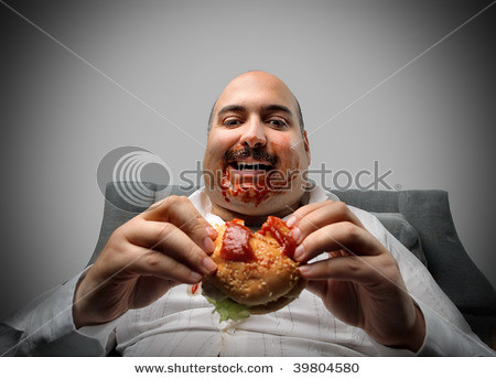 Fat Guy Eating