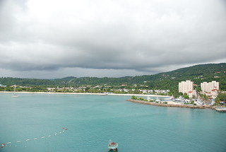 Ocho Rios, Jamaica harbor -- Panama Canal Trip 10-8-10