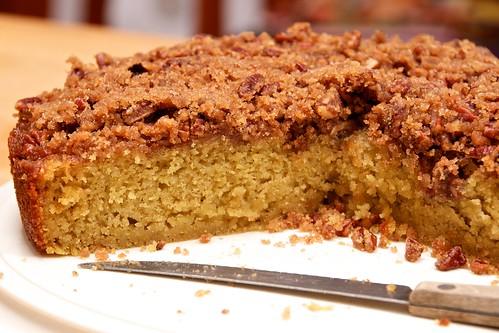 Pecan-Peach Cornmeal Cake