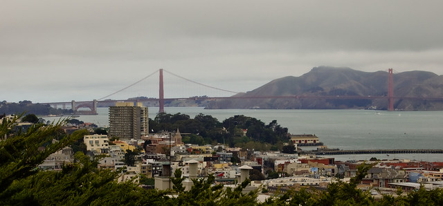 Golden Gate view from Telegraph Hill