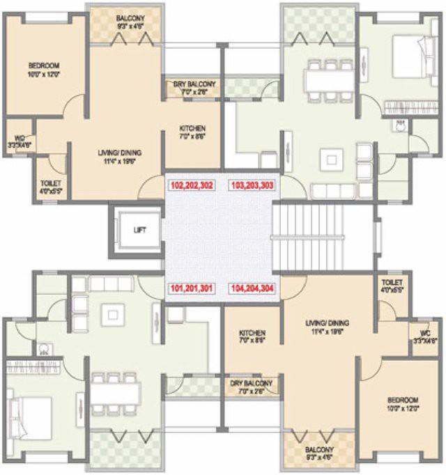 Ravi karandeekar 39 s pune real estate market news blog 1 for 1 bhk flat floor plan