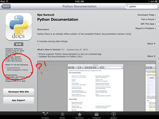 Python IPad Documentation has a Funny Rating