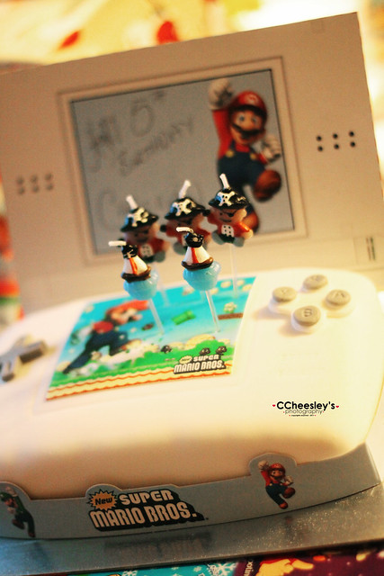 he got what he wish - a DS cake
