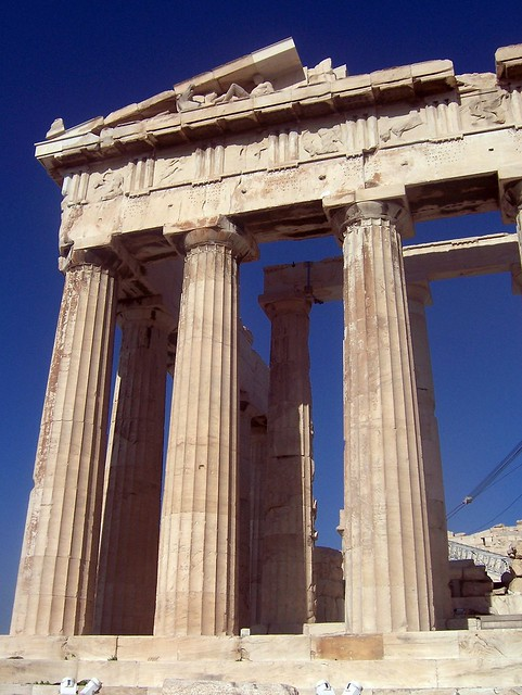 The east front of the Parthenon, Acropolis of Athens