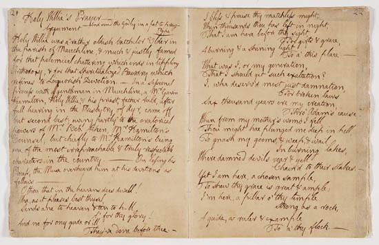 Robert Burns 'Holy Willie's Prayer' - Pages 1 & 2