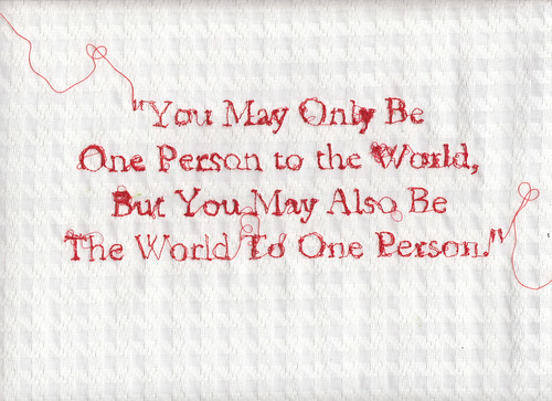 LE LOVE BLOG LOVE QUOTE THE WORLD TO ONE PERSON