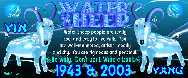 valxart 39 s 1943 2003 water sheep wood chinese zodiac people born flickr photo sharing. Black Bedroom Furniture Sets. Home Design Ideas