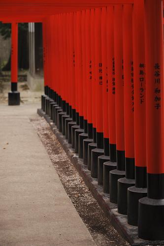 赤+黒=稲荷鳥居