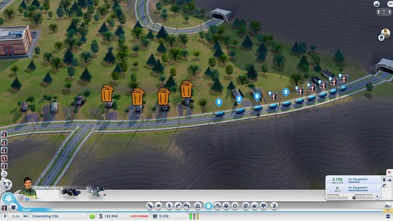 SimCity2013 Müllabfuhr