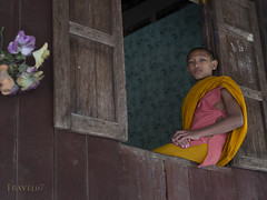 Young Monk in window