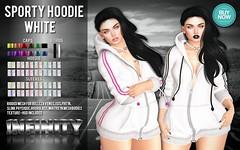 !NFINITY Sporty Hoodie - WHITE