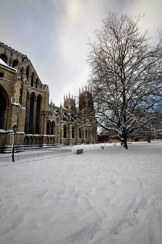 York Minster beneath a blanket of Christmas snow