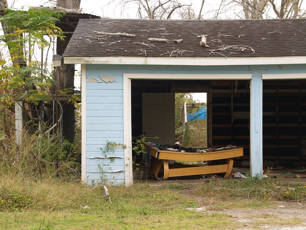 Channelview Texas Small Town Outside Houston Pool Table In Garage 2010  Roads Building Signs Architecture