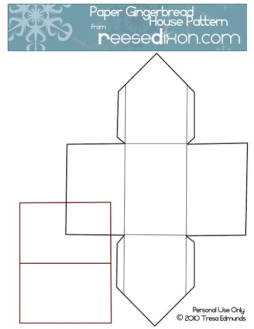 paper gingerbread house template printable - photo #2