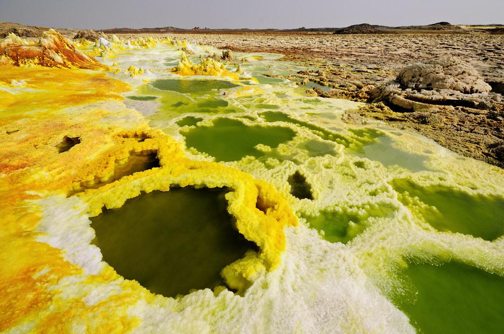 Earth trap - Dallol volcano - Ethiopia