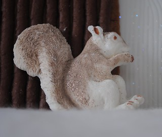 Dusted & glitted iced Squirrel