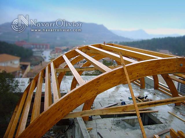 Estructuras de vigas laminadas curvas estructura de - Vigas de madera ...