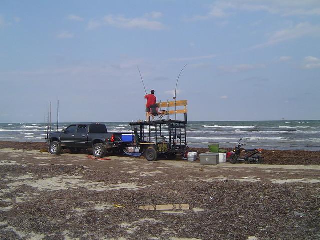 Shark fishing rig on padre island flickr photo sharing for Shark fishing rigs