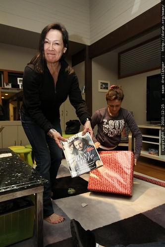 aunt megan on task, grandma neeta distracted by johnny depp