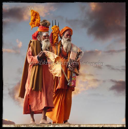 sky people orange india man square colours faith dream atmosphere soul elder devotion varanasi shiva hindu hinduism marigold kashi saddhu ghats trishul benares benaras uttarpradesh भारत colorphotoaward