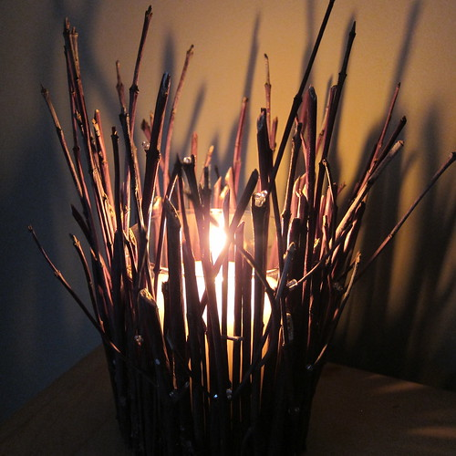 Iron Craft Challenge #1 - Iced WIllow Branch Candleholder