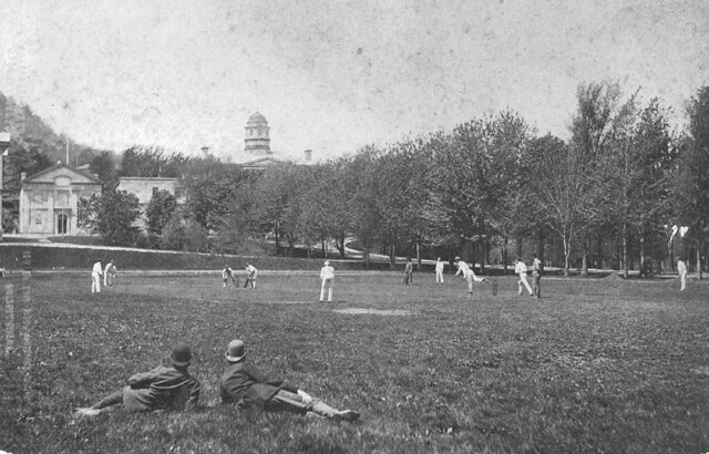 Cricket match, McGill campus, Montreal, QC, about 1890