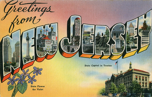 Greetings from new jersey large letter postcard flickr for New jersey house music