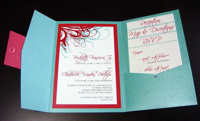 Red White And Blue Wedding Invitations: Aqua (Tiffany Blue) And Red Wedding Invitations