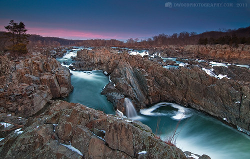 Great Falls Winter Sunset
