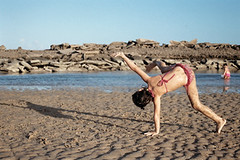 beach, sand, yoga, physical fitness,