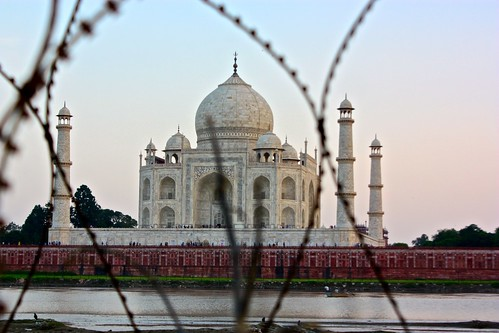 Taj Mahal, from barbed wire