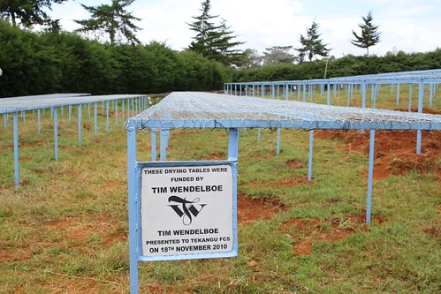 Drying tables funded by TW