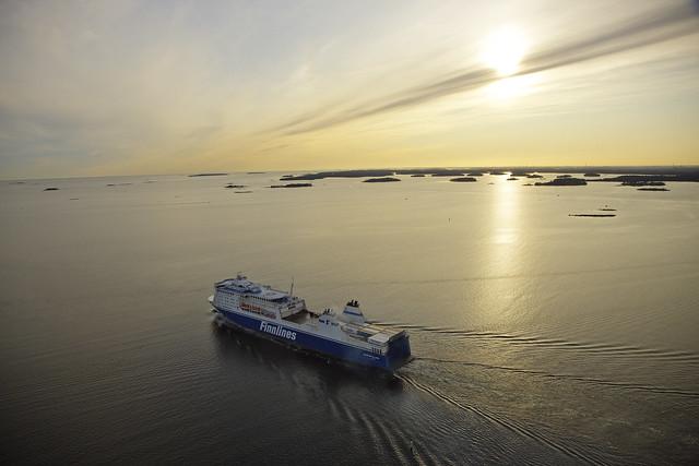 STAR-class vessel in the archipelago of Helsinki