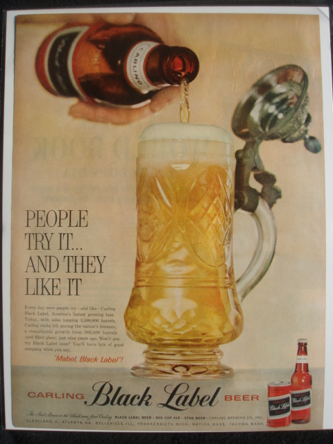 Carling-Black-1959-pouring