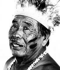 face, tribal chief, head, monochrome photography, monochrome, black-and-white, portrait,