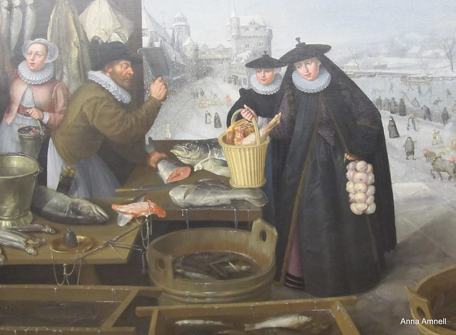 Lucas van Valckenborch: Der Winter 1595 (part of a larger painting)