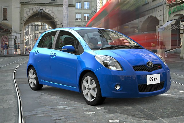 A fuel-efficient used Toyota Vitz mini-MPV car from online used car dealer BE FORWARD.