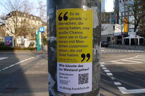 Besser leben im Westend | Diary 2010 Thing Frankfurt
