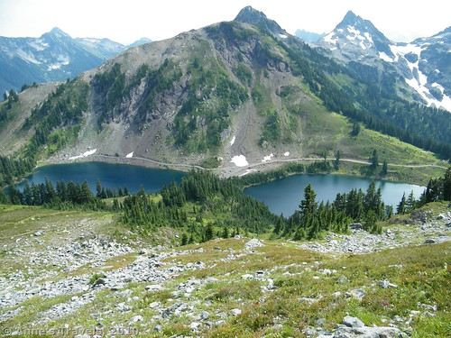 The Twin Lakes from Winchester Mountain, Mount Baker-Snoqualmie National Forest, Washington