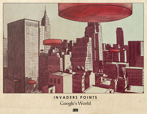 "Invaders Points ""Google's World"""