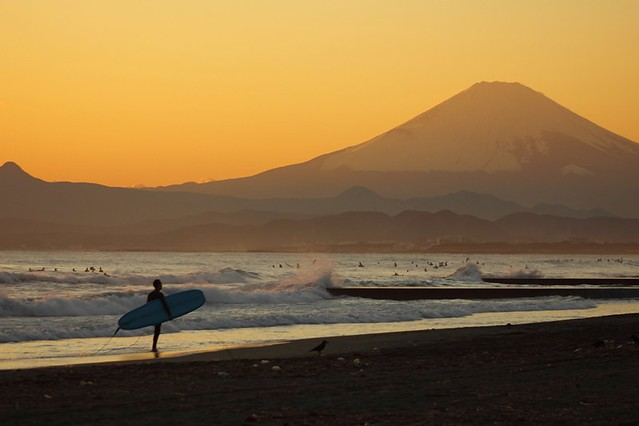 Mt. Fuji of the sunset