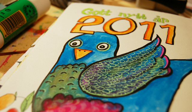 Happy Blue Bird Year by iHanna, Copyright Hanna Andersson